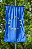 Europejska zrzeszeniowa flaga Zdjęcie Stock