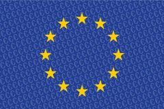 Europejska zrzeszeniowa flaga zdjęcie royalty free
