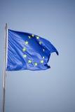 Europejska Zrzeszeniowa flaga w wiatrze Obrazy Royalty Free