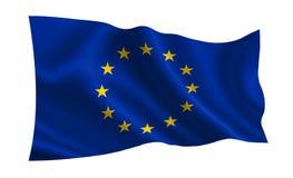 Europejska Zrzeszeniowa flaga, A flaga świat serie Obrazy Stock