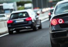 Europejski autostrada ruch drogowy obrazy stock