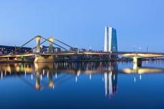 Europejski Bank Centralny (ECB) w Frankfurt Zdjęcie Stock