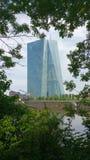 Europejski Bank Centralny Frankfurt magistrala - Am - zdjęcia royalty free