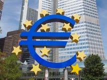 Europejski Bank Centralny w Frankfurt Obrazy Stock