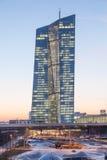 Europejski Bank Centralny w Frankfurt magistrali, Niemcy Fotografia Stock