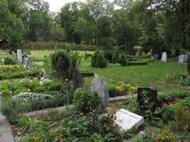 Europejski cmentarz obrazy stock