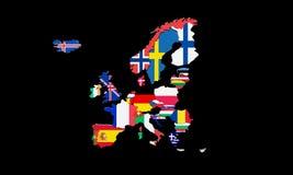 Europejski Ekonomiczny teren 3d odpłaca się mapę Obrazy Stock