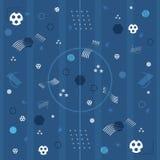 Europejski Futbolowy mistrzostwa 2016 błękita tło Ilustracja Wektor