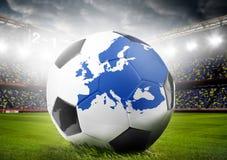 Europejski futbolowy pojęcie Obraz Royalty Free