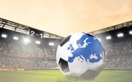 Europejski futbolowy pojęcie Obrazy Royalty Free