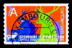Europejski kapitał kultura Luksemburg 2008, seria, około 2007 Zdjęcie Stock