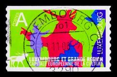 Europejski kapitał kultura Luksemburg 2010, seria, około 2007 Obrazy Stock