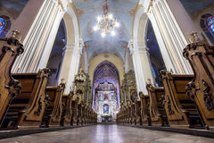 Europejski kościelny wnętrze Zdjęcia Royalty Free
