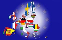 europejski kraju zjednoczenie Zdjęcia Stock