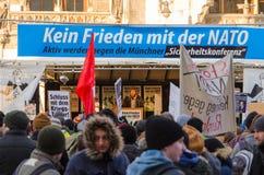 Europejski NATO-wski protestacyjny spotkanie Fotografia Royalty Free