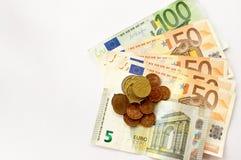 Europejski pieniądze z bezpłatnego teksta przestrzenią Zdjęcia Royalty Free