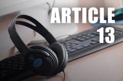 Europejski prawa autorskiego zarządzenie wliczając artykułu 13 zatwierdza parlamentem europejskim fotografia stock