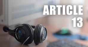 Europejski prawa autorskiego zarządzenie wliczając artykułu 13 zatwierdza parlamentem europejskim zdjęcie stock
