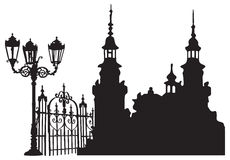 europejski stary miasteczko Obraz Royalty Free