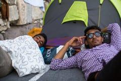 Europejski uchodźcy kryzys - Kos wyspy, Grecja Europejski uchodźcy kryzys Zdjęcia Stock