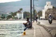 Europejski uchodźcy kryzys - Kos wyspa, Grecja Zdjęcia Royalty Free
