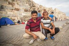 Europejski uchodźcy kryzys - Kos wyspa, Grecja Fotografia Royalty Free