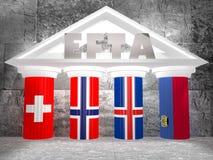 Europejski wolnego handlu skojarzenie Zdjęcie Royalty Free