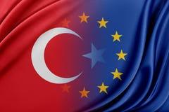 Europejski zjednoczenie i Turcja Pojęcie związek między UE i Turcja Obraz Stock