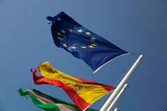 europejskie flaga Obraz Royalty Free
