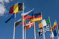europejskie flaga Obrazy Royalty Free