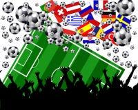 europejskie mistrzostwa piłki nożnej royalty ilustracja