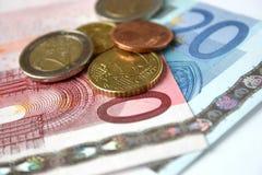 europejskie pieniądze Fotografia Stock