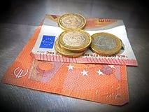 europejskie pieniądze Obrazy Royalty Free