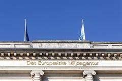 Europejskiego środowiska agenci budynek w Kopenhaga Zdjęcie Royalty Free