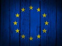 Europejskiego zjednoczenia Grunge tło Obrazy Royalty Free