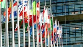 Europejskiego zjednoczenia krajów flaga szyk zdjęcie wideo