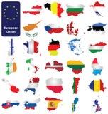 Europejskiego zjednoczenia kraje Obrazy Royalty Free