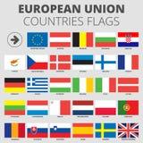Europejskiego zjednoczenia kraju flaga Obraz Stock