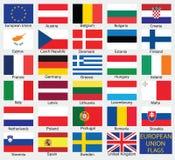 Europejskiego zjednoczenia kraju flaga ilustracja wektor
