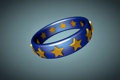 Europejskiego zjednoczenia pierścionek fotografia stock