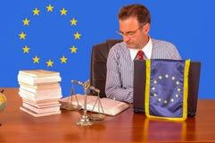 Europejskiego zjednoczenia prawnik obrazy stock