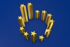 Europejskiego zjednoczenia różnorodności diagram Obrazy Stock