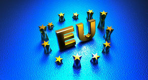Europejskiego zjednoczenia UE Obraz Stock
