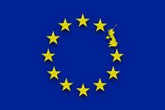 Europejskiego zjednoczenia UK referendum ilustracji