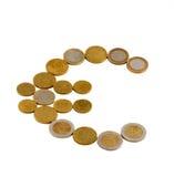 europejskim monety Fotografia Royalty Free