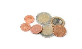 europejskim monety Fotografia Stock