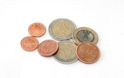 europejskim monety Obrazy Royalty Free