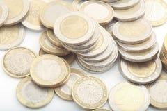 europejskim monety Zdjęcia Royalty Free