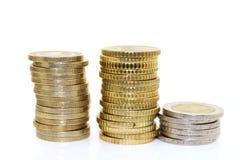europejskim monety Zdjęcie Royalty Free