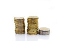 europejskim monety Zdjęcia Stock